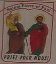 Saints Pierre et Paul, patrons de la paroisse