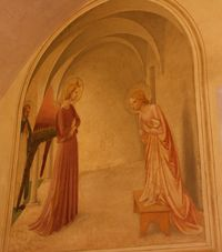 Annonciation de Fra Angelico, appelée « Annonciation de la cellule 3 à San Marco ».